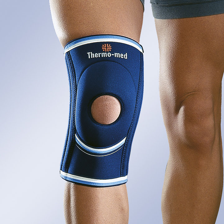 NEOPRENE KNEE SUPPORT FLEXIBLE LATERAL STABILISERS AND SILICONE KNEEPAD