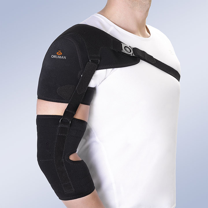 SHOULDER SUPPORT WITH ARM AND FOREARM STRAP