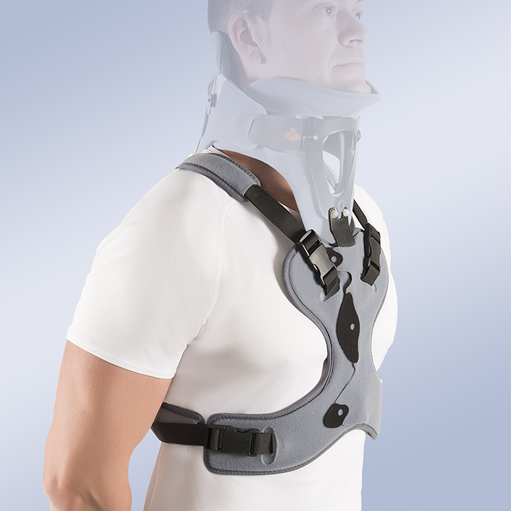 THORACIC SUPPORT EXTENSION FOR OCCIPITAL MANDIBULAR IMMOBILISATION