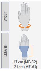 SEMI-RIGID WRIST SUPPORT WITH PALMAR SPLINT/ SHORT
