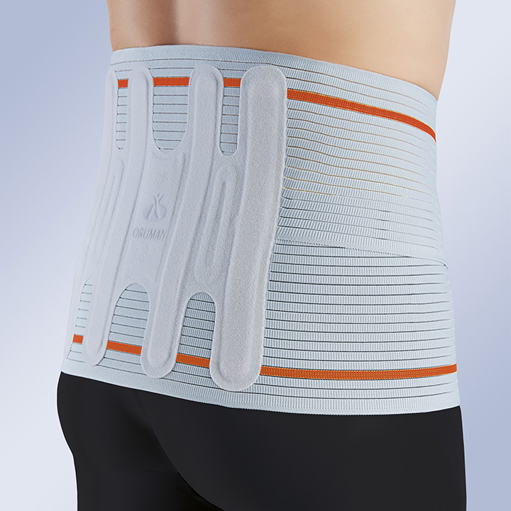SEMI-RIGID LUMBAR BACK SUPPORT