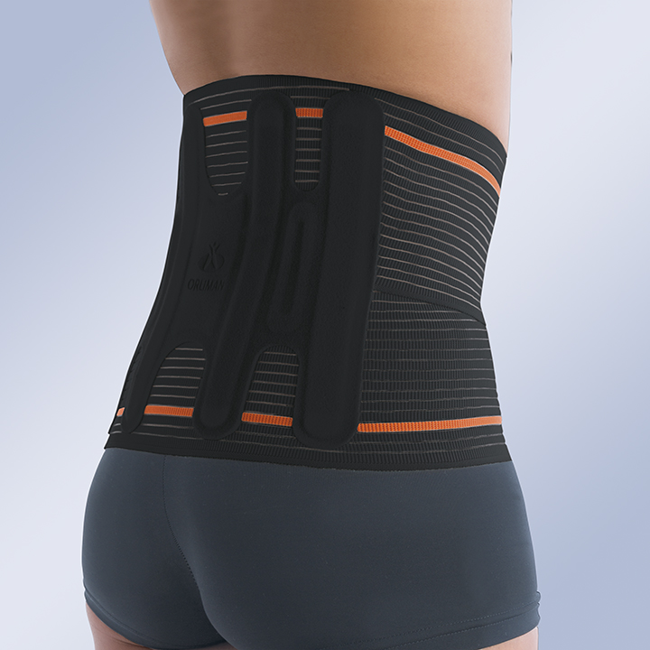 HIGH SEMI-RIGID LUMBAR BACK SUPPORT