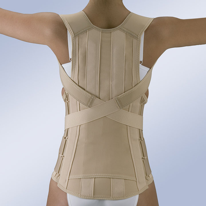 SEMI-RIGID DORSO-LUMBAR BACK SUPPORT WITH VELCRO FASTENING