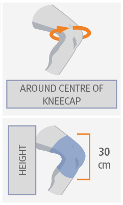WRAPAROUND KNEE SUPPORT WITH BIAXIAL JOINTS AND METAL SUPPORTS