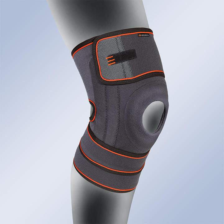 KNEE SUPPORT WITH SILICONE PATELLA PAD