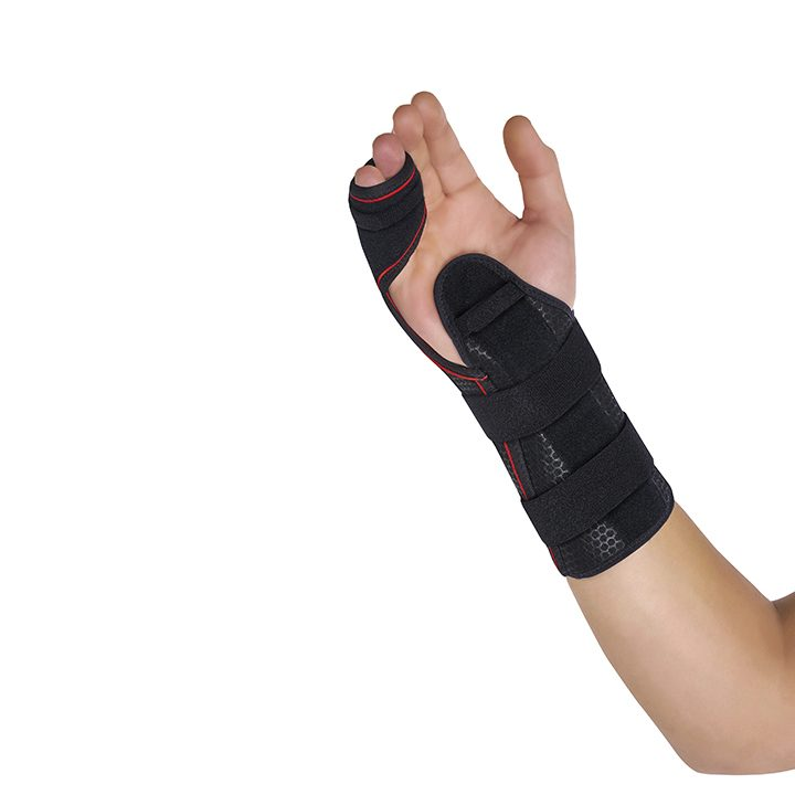 SEMI-RIGID WRIST SUPPORT WITH  PALMAR/DORSAL SPLINTS / 4TH AND 5TH METACARPALS