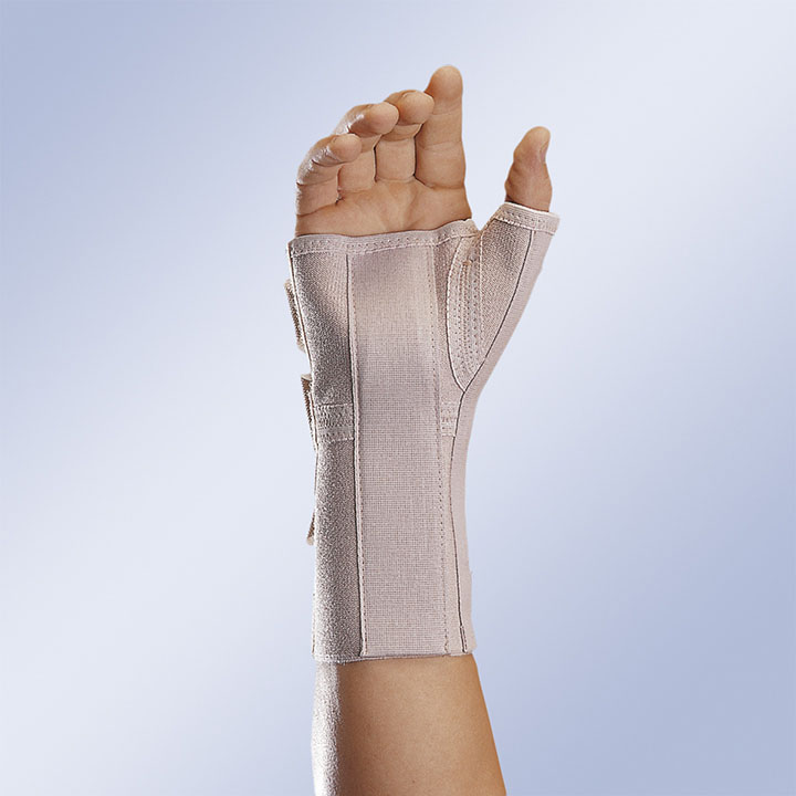 LONG OPEN ELASTIC WRIST SUPPORT WITH PALM and THUMB SPLINT