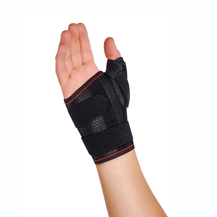 SEMI-RIGID WRIST SUPPORT WITH THUMB SPLINT / SHORT