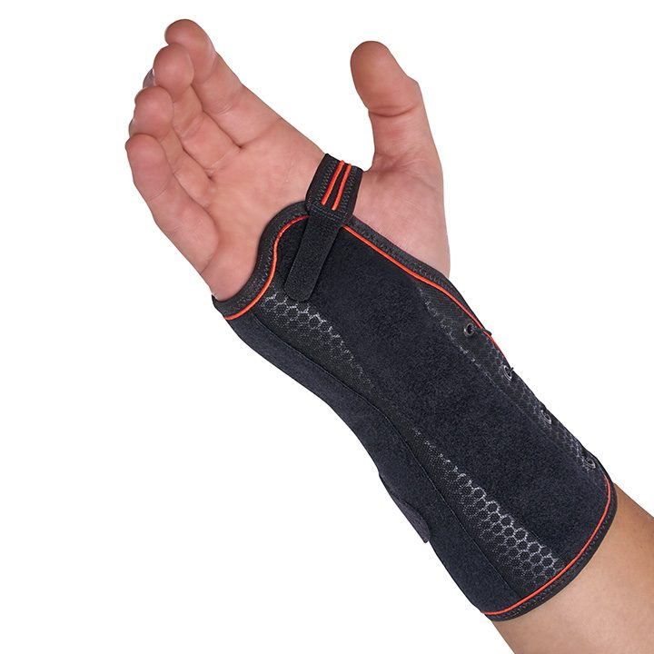 FAST LACING SEMI-RIGID WRIST SUPPORT WITH PALMAR/DORSAL SPLINT