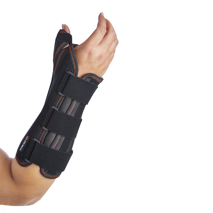 WRIST SUPPORT WITH RIGID PALMAR AND THUMB SPLINTS