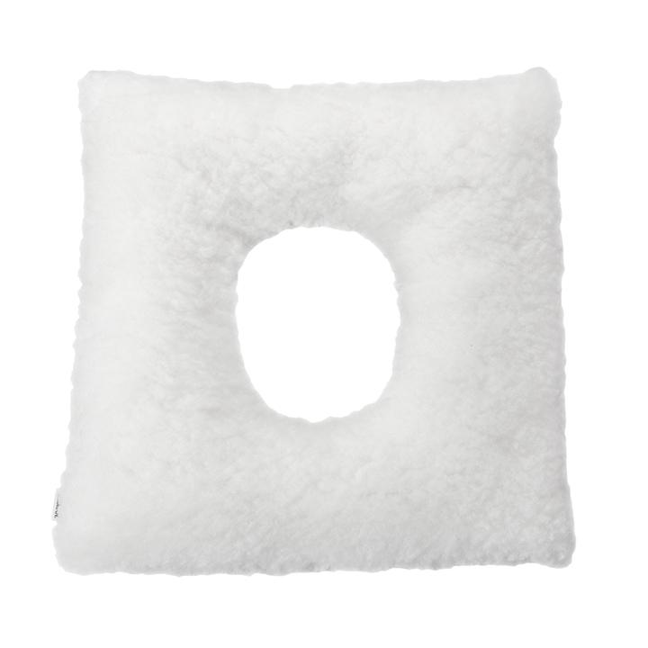 Cojín antiescaras Soft cuadrado con agujero blanco