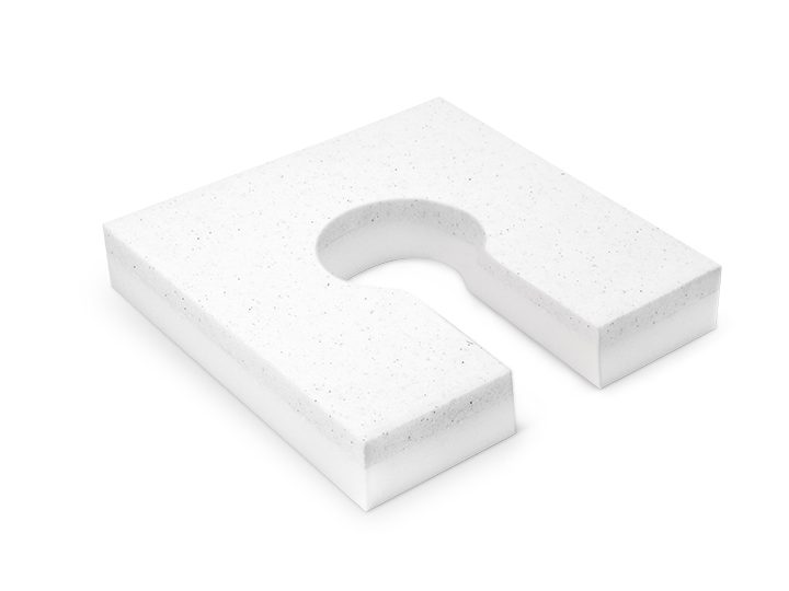 SQUARE ANTI-BEDSORE CUSHION WITH 2 LAYERS OF FOAM