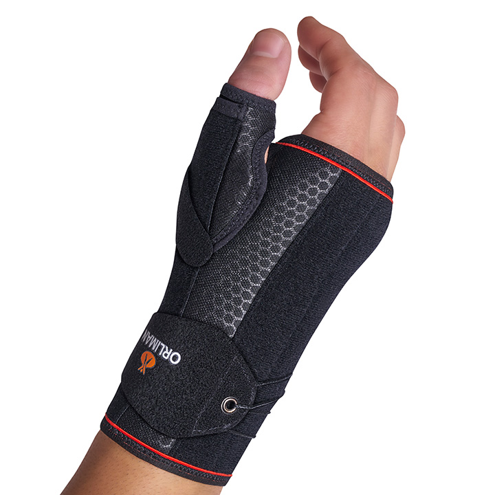FAST LACING SEMI-RIGID WRIST SUPPORT WITH PALMAR/DORSAL/THUMB SPLINTS