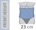 SEMI-RIGID DORSO-LUMBAR BACK SUPPORT WITH VELCRO FASTENING