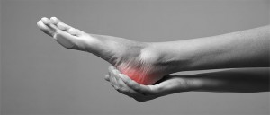 Pain In The Foot. Massage Of Female Feet. Pain In The Human Body